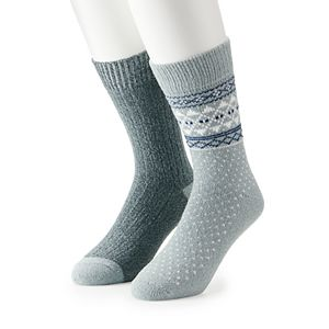 Men's Climatesmart by Cuddl Duds 2-pack Crew Socks