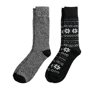 Men's Climatesmart by Cuddl Duds 2-pack Crew Socks
