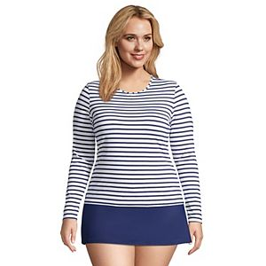 Plus Size Lands' End UPF 50 Long Sleeve Rash Guard