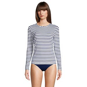 Petite Lands' End UPF 50 Long Sleeve Rash Guard