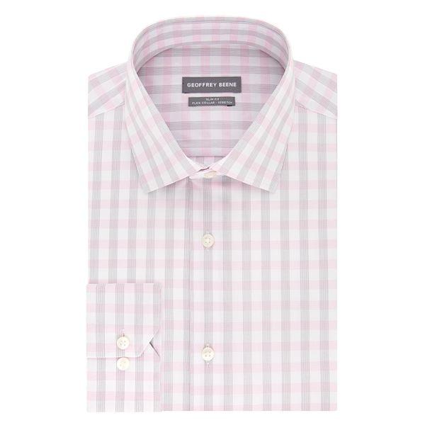 Men's Geoffrey Beene Slim-Fit Stretch Flex ... Spread-Collar Dress Shirt