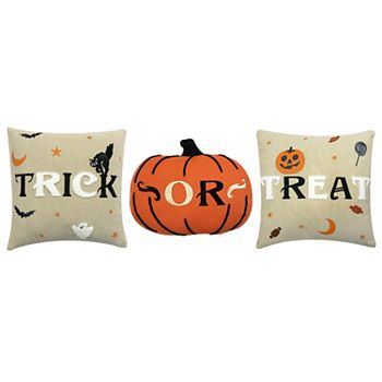 3-Pack Celebrate Halloween Together Trick or Treat Throw Pillow Set
