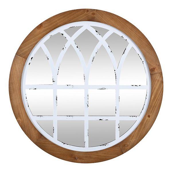 Firstime Co Covington Farmhouse White Arch Mirror