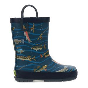 Western Chief Gone Fishin' Toddler Boys' Waterproof Rain Boots