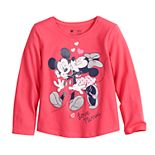 Disney's Mickey & Minnie Mouse Toddler Girl Shirttail-Hem Tee by Jumping Beans®