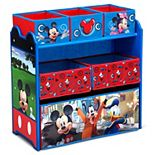 Disney's Mickey Mouse 6-Bin Design and Store Toy Organizer by Delta Children