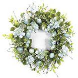 Melrose Artificial Egg & Floral Wreath