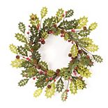 Melrose Artificial Holly Wreath