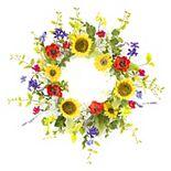 Melrose Artificial Sunflower & Poppy Wreath