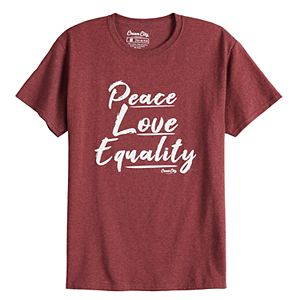 Men's Cream City Peace Love Equality Tee