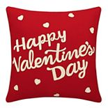 Celebrate Valentine's Day Together Happy V Day Throw Pillow