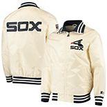 Men's Starter Cream Chicago White Sox The Captain II Full-Zip Jacket