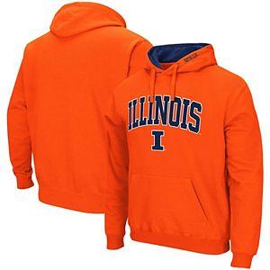 Men's Colosseum Orange Illinois Fighting Illini Arch & Logo 2.0 Pullover Hoodie