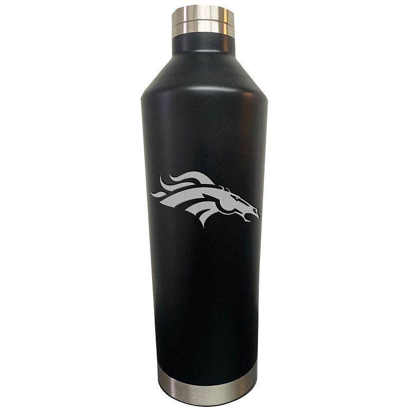 Black Denver Broncos 26oz. Primary Logo Water Bottle