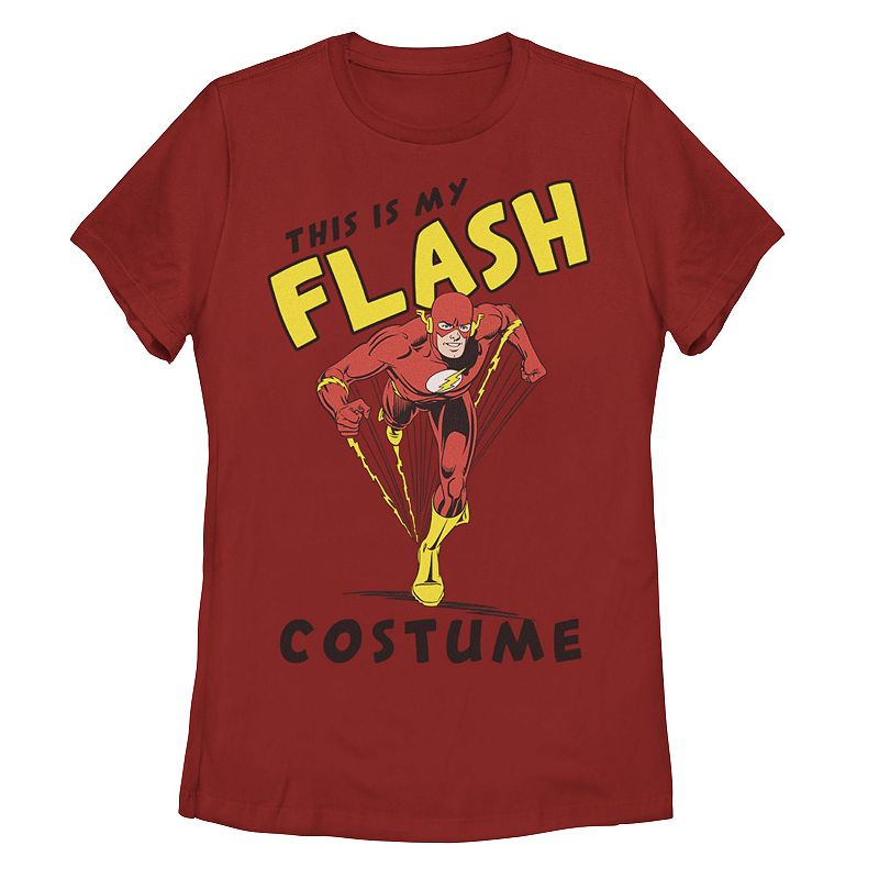 """Juniors' DC Comics """"This Is My Flash Costume"""" Poster Tee, Girl's, Size: XXL, Red"""