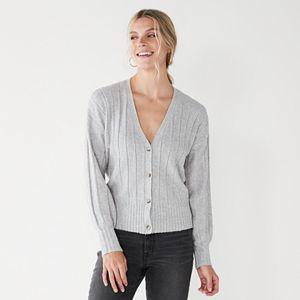 Women's Nine West Wide Rib Cardigan Sweater