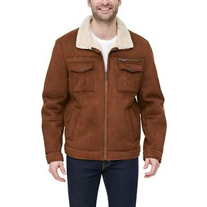 Men's G.H. Bass Faux-Shearling Stand-Collar Military Jacket