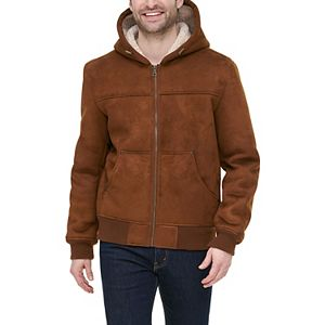 Men's G.H. Bass Faux-Shearling Hooded Bomber Jacket