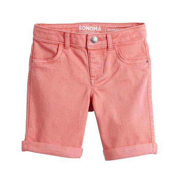 Girls 4-12 Sonoma Goods For Life® Cuffed Denim Bermuda Shorts