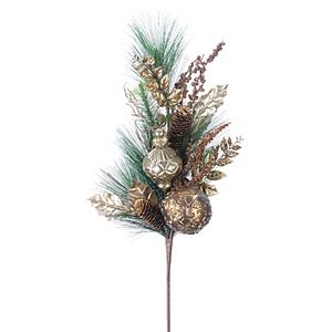 Melrose Pine Spray with Ornaments 4-pc. Set