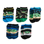 Boys 4-20 Star Wars The Mandalorian The Child aka Baby Yoda 5-Pack Ankle Socks