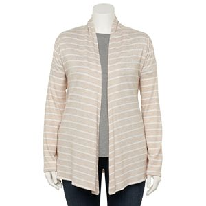 Plus Size Croft & Barrow® Open-Front Draped Cardigan