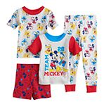 Disney's Mickey Mouse Toddler Boy 4 Piece Mickey Team Pajama Set