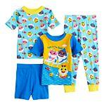 Toddler Boy Baby Shark Fintastic 4 Piece Pajama Set