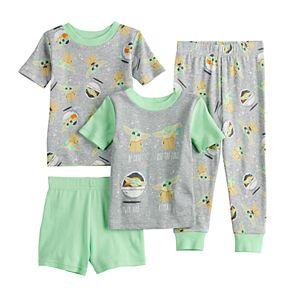 Toddler Boy The Mandalorian 4 Piece The Child aka Baby Yoda Pajama Set