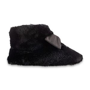 Women's isotoner Faux Fur and Satin Tabby Boot Slippers