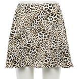 Juniors' Trixxi Leopard Skater Skirt