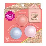 eos Holiday Lip Balm Sphere - Cotton Candy Snow, Caramel Brulée Sleigh, and Champagne Pop 3-pack