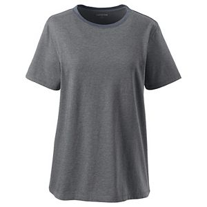 Plus Size Lands' End Relaxed Supima Cotton Crewneck Tee
