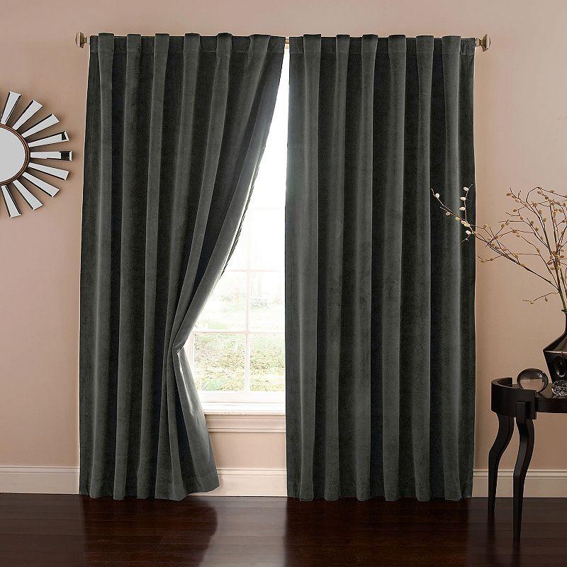 eclipse Absolute Zero Bradley Blackout Window Curtain, Grey, 50X108