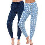 Women's Roudelain Super Soft Banded Bottom Pajama Pants 2-Pack