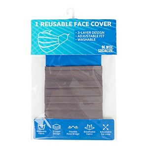 Adult Be Wise Pleated Solid Cloth Face Mask