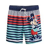 Disney's Mickey Mouse Toddler Boy Striped Swim Trunks