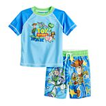 Disney / Pixar Toy Story Toddler Boy Rashguard Top & Swim Trunks Set