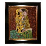 "La Pastiche The Kiss by Gustav Klimt 33"" Framed Wall Art"