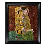 "La Pastiche The Kiss by Gustav Klimt 29"" Framed Wall Art"