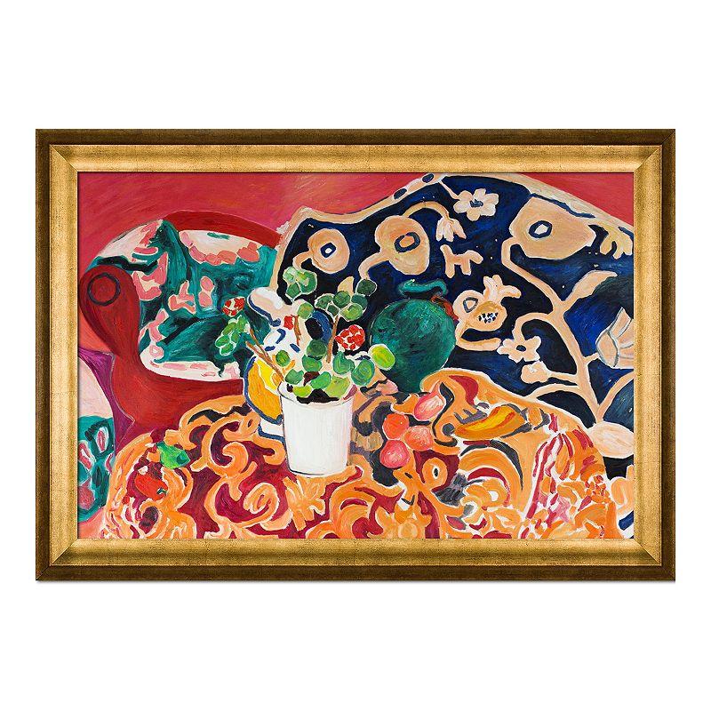 La Pastiche Spanish Still Life by Henri Matisse Medium Framed Wall Art, 41X29