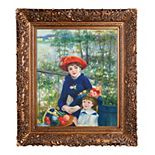 La Pastiche Two Sisters On the Terrace 1881 Pierre-Auguste Renoir Framed Canvas Wall Art