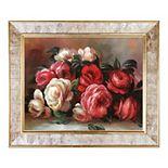 La Pastiche Discarded Roses Pierre-Auguste Renoir Framed Canvas Wall Art