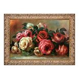 La Pastiche Discarded Roses Pierre-Auguste Renoir Framed Canvas Wall Art