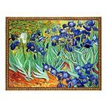 La Pastiche Irises Vincent Van Gogh Framed Canvas Wall Art