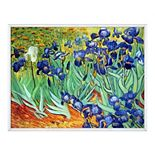 La Pastiche Irises Vincent Van Gogh Framed Canvas Wall Art