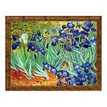 La Pastiche Irises by Vincent Van Gogh Large Framed Wall Art