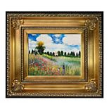 La Pastiche Poppy Field in Argenteuil by Claude Monet Small Framed Wall Art