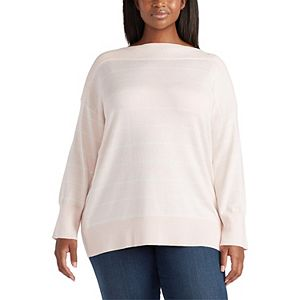 Plus Size Chaps Boatneck Sweater