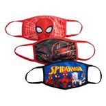 Kids' Marvel Spiderman Washable Cloth Face Mask 3-Pack